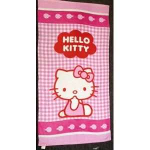 Hello Kitty Checker Pink Beach / Bath Towel   59x30
