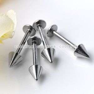 Stainless Steel Arrow Taper Lip Labret Studs Ring Punk Piercing