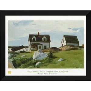 Edward Hopper FRAMED Art 28x36 Houses of Squam Light