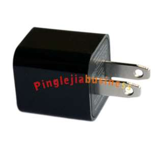 Black USB AC Power Adapter Wall Charger For iPod iPhone US 2P Plug L