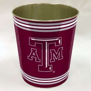 Texas A&M Aggies TAMU NCAA Metal Waste Paper Basket 11