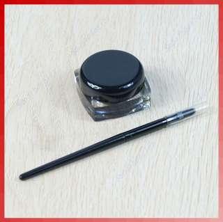 Black Pro Waterproof Eye Liner Eyeliner Shadow Gel Makeup Cosmetic