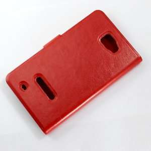 [Aftermarket Product] Brand New Red Slim Faux Leather Flip Book