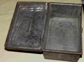 ANTIQUE BLACK TIN DOCUMENT BOX HANDMADE?? Primitive