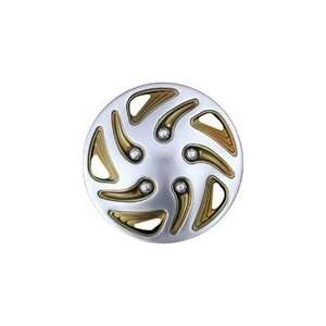Wheel Cover, Swirl Chrome/Gold, 8