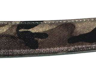 PRADA Combat Print Mens Leather Belt ~ Size 36 ~ New with Tags ~ MSRP