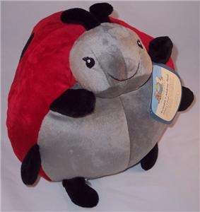Cloud B 12Large Sz Ladybug Pouf Red Black Plush Stuffed Animal Soft