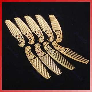 Retro Ladies Makeup Compact Pock Hand Held Mirror Hair Comb Set