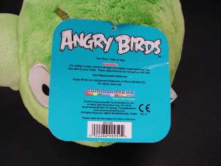 ANGRY BIRDS Rovio GREEN PIG Plush 8 With Sound NWT NEW