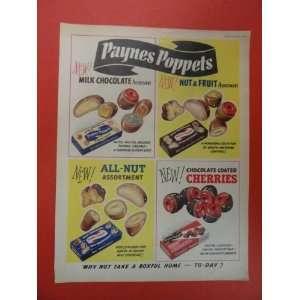 Paynes Poppets, 50s Print Ad (chocolate/nut & fruit