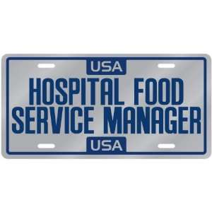 New  Usa Hospital Food Service Manager  License Plate