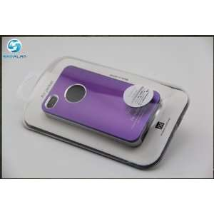 Air Jacket Cover Case for AT&T iPhone 4 4S Purple (W/ Retail Box