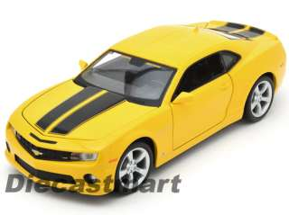 MAISTO 1:24 2010 CHEVROLET CAMARO SS RS NEW DIECAST MODEL CAR YELLOW