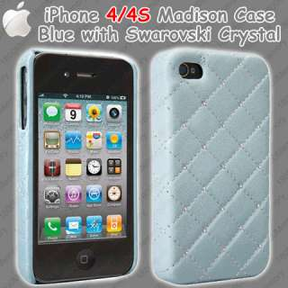 Madison Case for Apple iPhone 4 4S /w Swarovski Crystal Elements Quilt