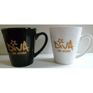 Las Vegas Mug Set of 2 Las Vegas Diva Ceramic Coffee Mugs