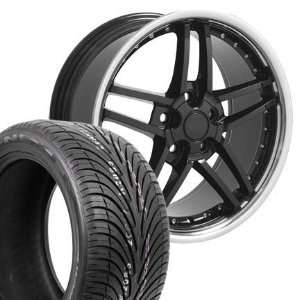17 Fits Camaro Corvette   C6 Z06 wheels tires   Black
