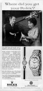 1961 Rolex Ladies Watch Jinx Falkenburg Original Ad