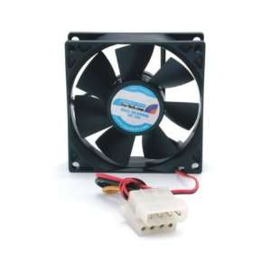 Dual Ball Bearing Computer Case Fan with LP4 Connector FANBOX (Black