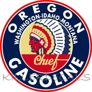 OREGON GASOLINE DECAL GAS AND OIL FOR GAS PUMP, SIGN, WALL ART STICKER