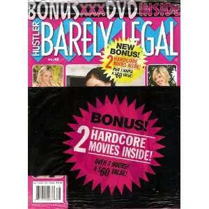 BARELY LEGAL #48 WITH BONUS DVD HUSTLER Books