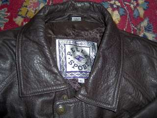 LEATHER JACKET MENS PELLE SPORT EXTRA LG ( BROWN)