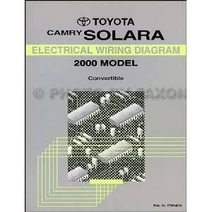 Toyota Camry Solara Convertible Wiring Diagram Manual Original Toyota