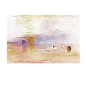Joseph Mallord William Turner   Calais Sands At Low Water