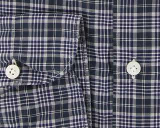 New $375 Finamore Napoli Navy Blue Shirt XL/XL