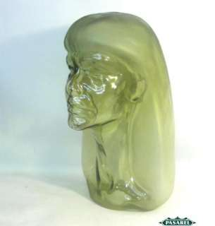 French Art Deco Glass Sculpture Of A Woman By Henri Navarre Paris 1924