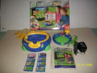 , LEAPSTER TV, LEARNING SYSTEM, 8 EDUCATIONAL GAME CARTRIDGES, TOY