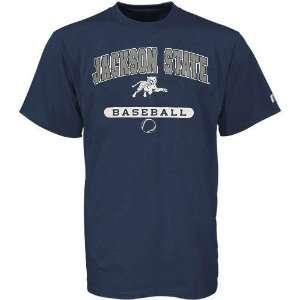 Russell Jackson State Tigers Navy Blue Baseball T shirt