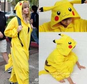 Pokemon Costume Pikachu Kigurumi Japan Pajamas Party Cosplay S M L XL