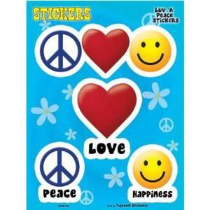 Peace Love & Happiness Decal Sticker Automotive