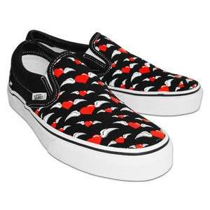 VANS SHOES FLYIN HEARTS 8 M 9.5 W CLASSIC SLIP ON NIB