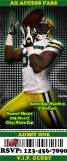 Green Bay Packers BIRTHDAY PARTY INVITATION (packers03)