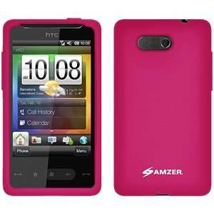 High Quality Amzer Silicone Skin Jelly Case Hot Pink For Htc Hd Mini