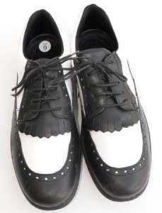 BALLY Womens WING 9 40 BLACK WHITE Golf Oxford Shoes Desmopan Outsoles