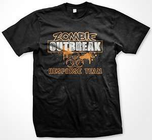 Zombie Outbreak Response Team Funny Mens T Shirt