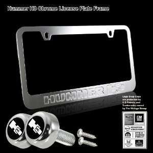 Hummer H3 Stamped High Quality Chrome Plating Cast Zinc License Plate