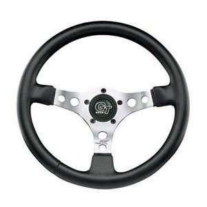 Polished/black Formula Gt Steering Wheel Fits All Jeeps w/ Adapter CJ