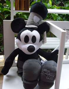 New Disney Mickey Mouse 1928 Black And White PLUSH TOY Big Size Free