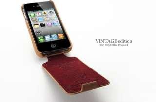 SGP iPhone 4 / 4S Vintage S leather flip cover case
