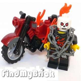 M780 Lego Custom Ghost Rider Akartsky Minifigure & Motorcycle NEW
