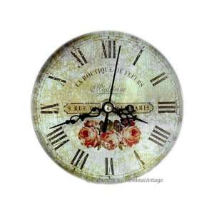 small french flower shop kitchen bathroom wall clock home amp kitchen: small bathroom clock
