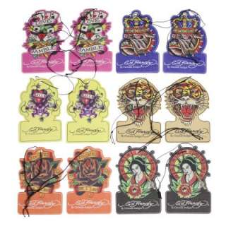12 Ed Hardy Auto Home Car Air Fresheners Vintage Retro Tattoo Design 6
