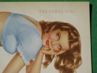 GIRL CALENDAR ART NOVEMBER 1948 LONG LEGGED BRUNETTE OLDIE