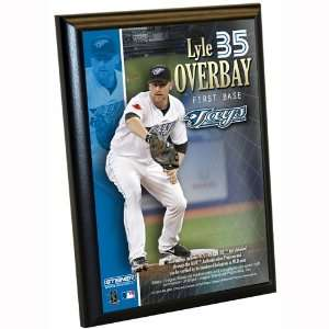 MLB Toronto Blue Jays Lyle Overbay 4 by 6 Inch Dirt Plaque