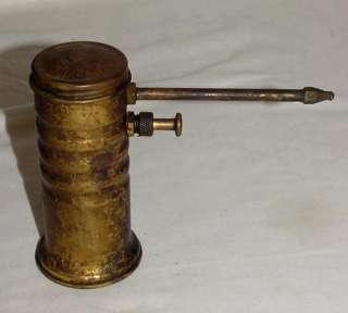 VINTAGE EAGLE NO 66 PUMP CAN SOLID BRASS SERVICE STATION GAS OIL