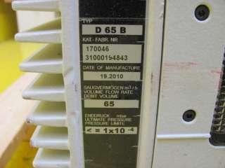 Leybold Oerlikon D65B Trivac B Rotary Vane Vacuum Pump 170046