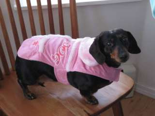 DIVA DOG Pink Coat for Dogs Furry Collar Size S 12 13